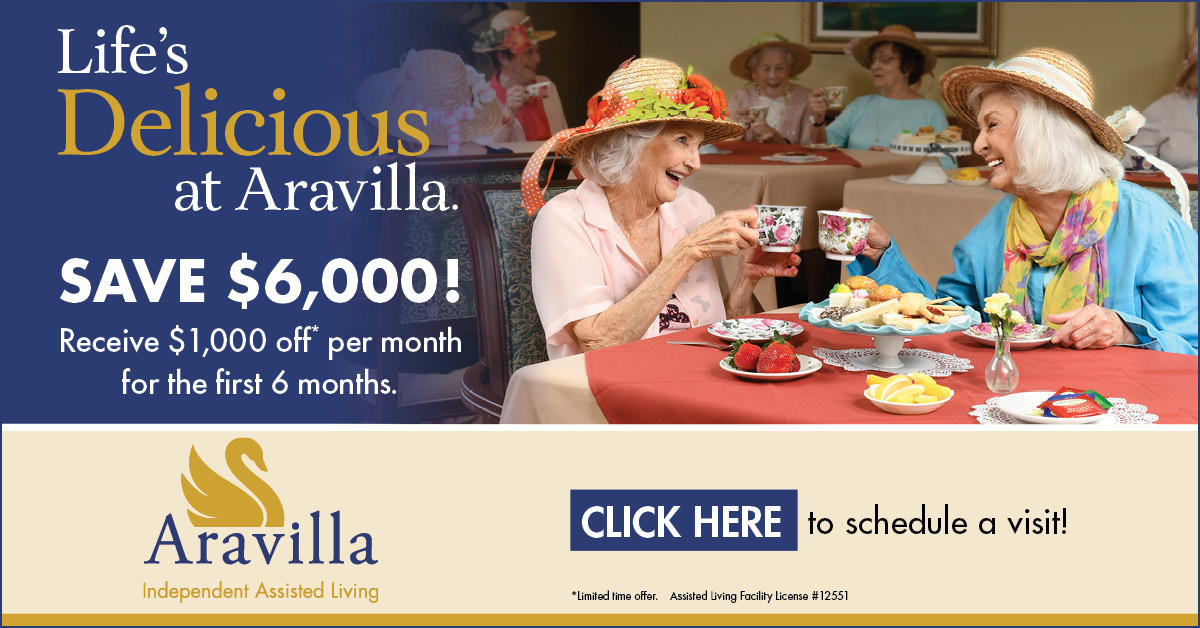 Aravilla Assisted Living Move In Special. Contact Aravilla for details.
