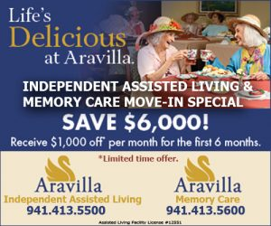 Aravilla Sarasota Memory Care and Assisted Living Move in Specials